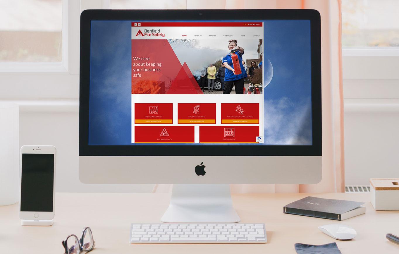 Website Design For Benfield Fire Safety