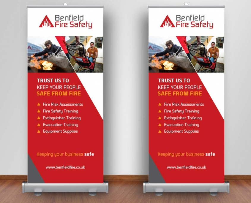 Popup Stand Design Benfiled Fire Safety